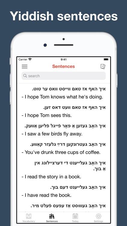 Yiddish vocabulary & sentences screenshot-5