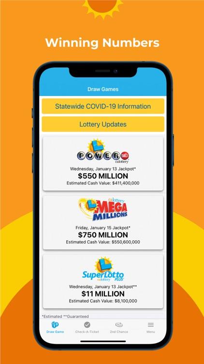CA Lottery Official App screenshot-0