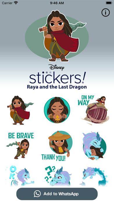 Disney Stickers: Raya screenshot 1