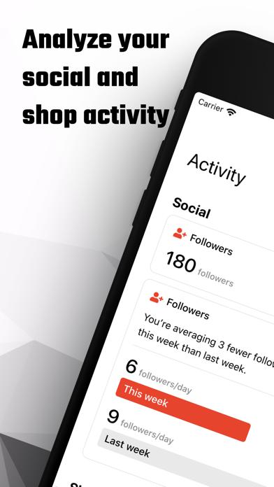 Popbot: Follower & Shop Stats screenshot 1