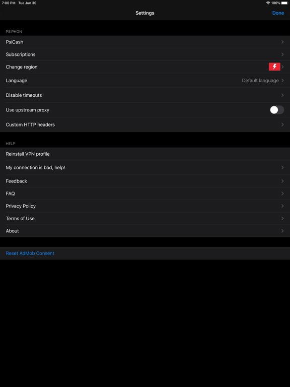 iPad Image of Psiphon