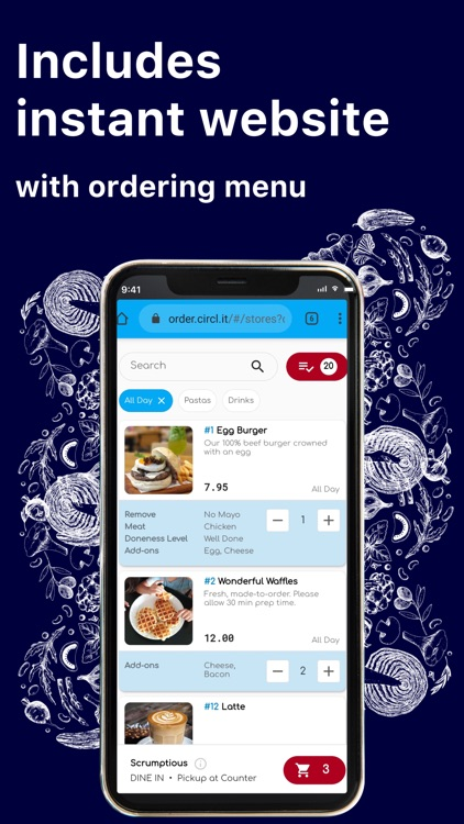 CIRCL Store–Setup F&B ordering screenshot-1
