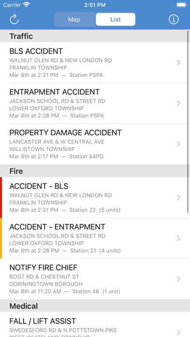 messages.download Chester County Incidents software