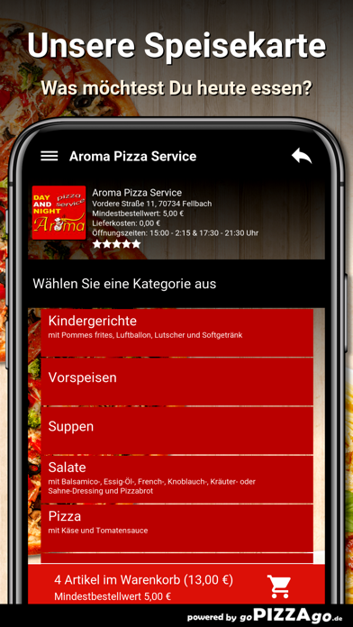 Aroma Pizza Service Fellbach screenshot 4