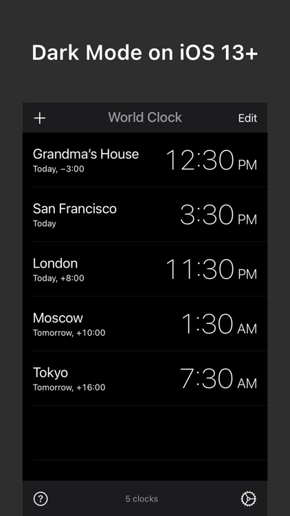 World Clock — Time Zone Widget screenshot-5