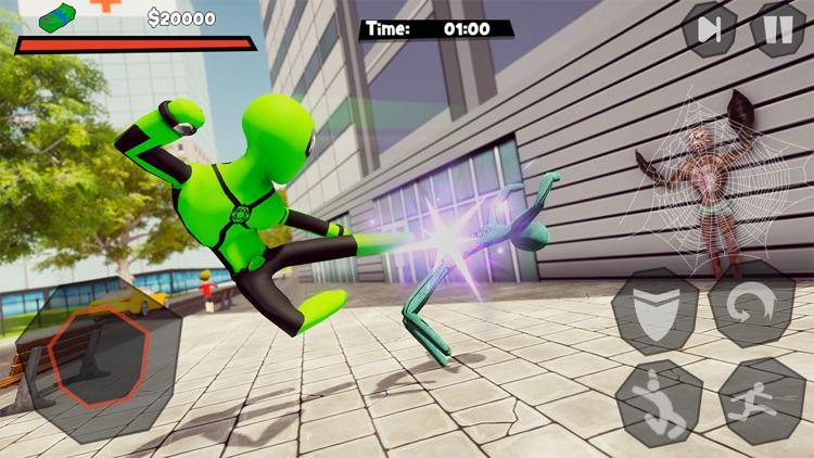 Stickman Spider -Rope Hero Sim screenshot-3