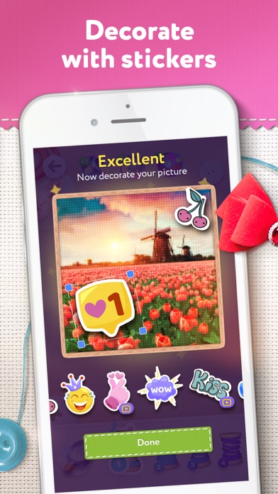 Magic Cross Stitch: Pixel Art screenshot 3