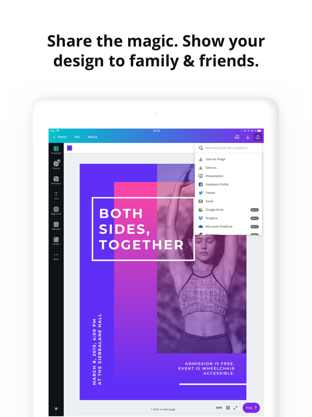 ‎Canva: Graphic Design & Video Screenshot