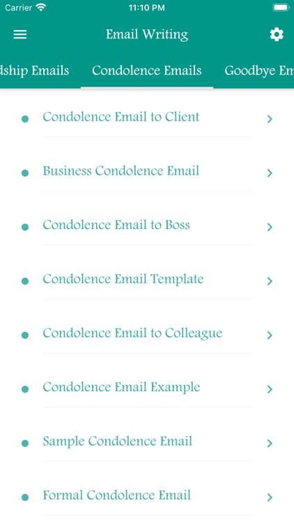 Email Writing Templates screenshot-7