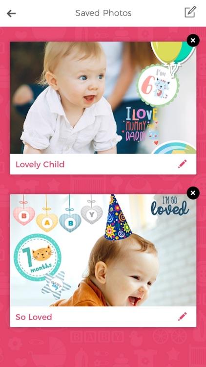 Baby Photo Editor & Baby Story screenshot-3