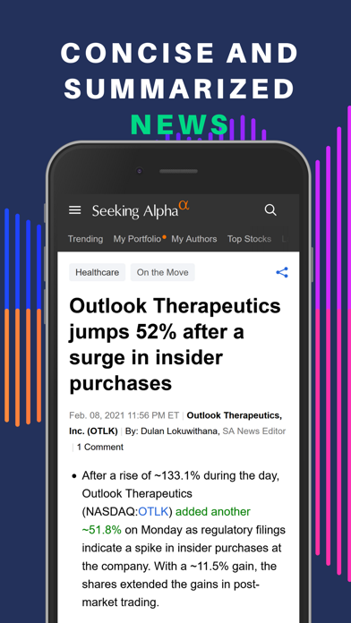 Seeking Alpha: биржа и новостиСкриншоты 6
