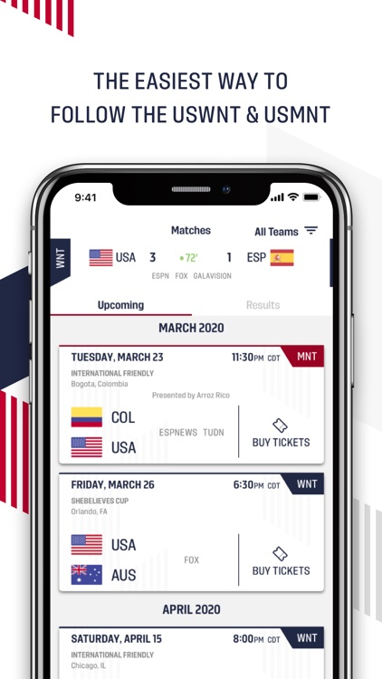 U.S. Soccer – Official App screenshot-0