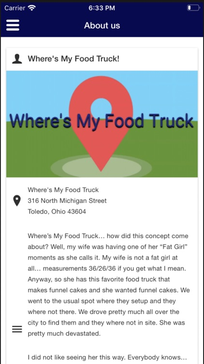 Where's My Food Truck