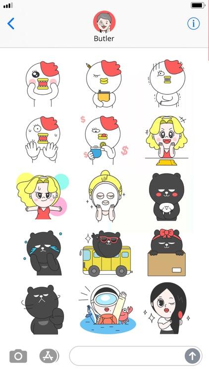 톡집사 & 서포터즈 이모지 스티커 - 인터파크 screenshot-4