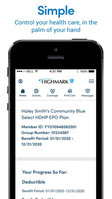 messages.download Highmark Plan software