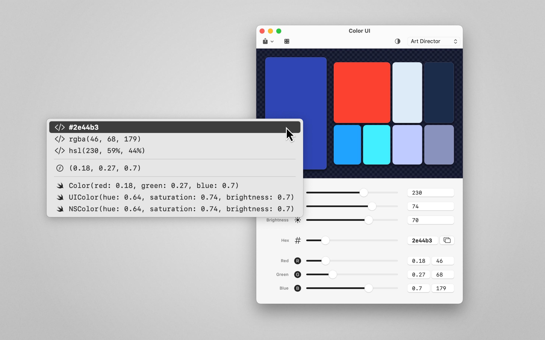 Screenshot do app Color UI