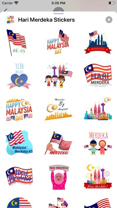 Hari Merdeka Stickers screenshot 3