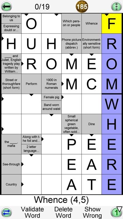 Arrow Crossword & Other Games screenshot-3