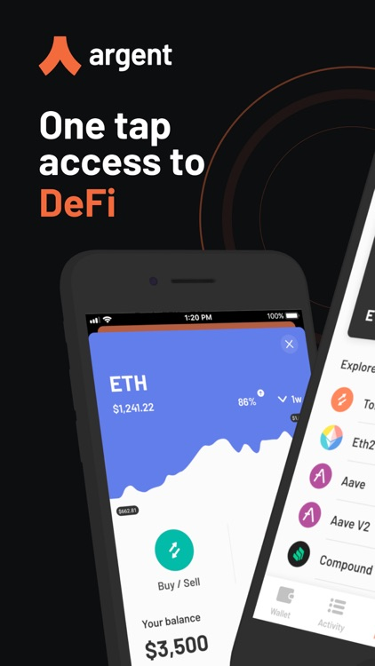 Argent – DeFi in a tap