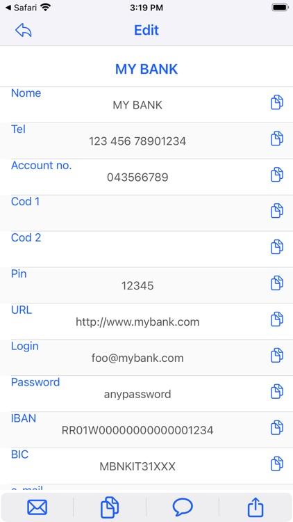 iDataSafe - data manager. screenshot-3