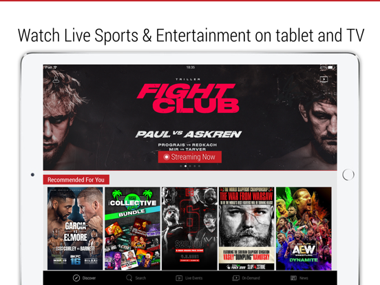 iPad Image of FITE - Boxing, Wrestling, MMA
