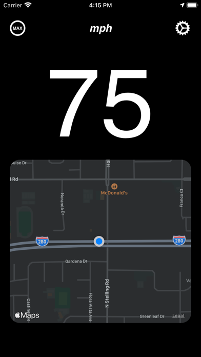 GPS Speedometer - Digital Screenshot