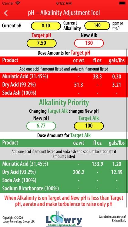 pH-Alkalinity Adjustment Tool screenshot-3