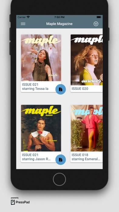Maple MagazineScreenshot of 1