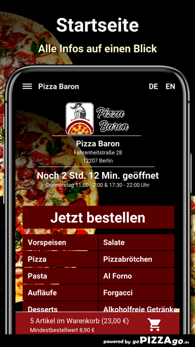 Baron Berlin Pizza screenshot 2