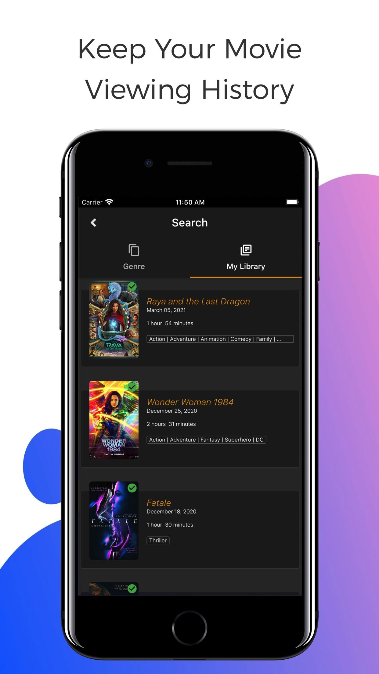 Screenshot do app RunPee