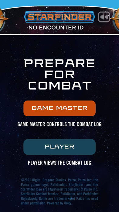 Starfinder Combat Tracker Screenshot