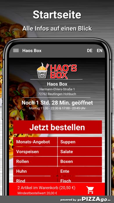 Haos Box Reutlingen Hohbuch screenshot 2