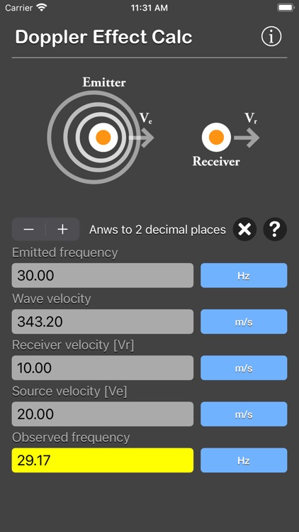 Doppler Effect Calculator