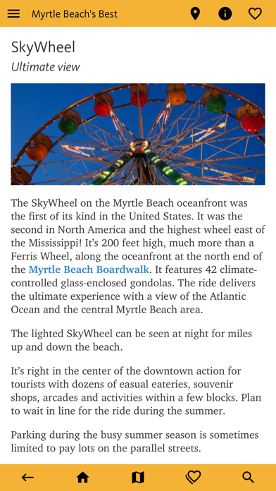 Myrtle Beach's Best Travel App screenshot 2