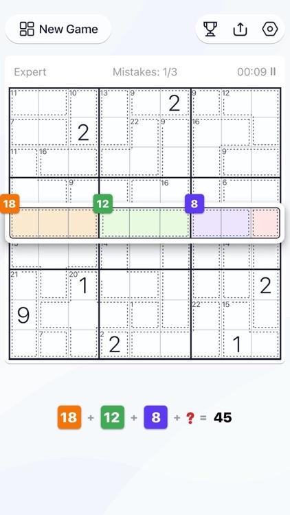 Killer Sudoku - Puzzle Games screenshot-4
