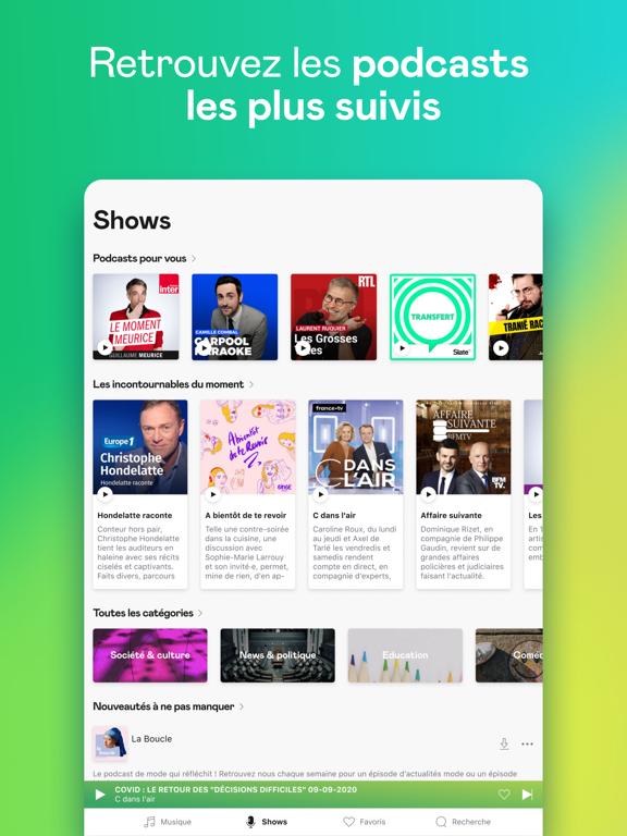 Deezer: Musique & Playlists iPad captures décran