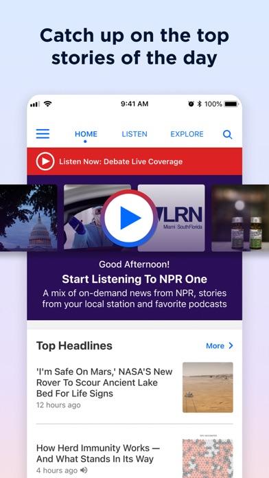 Screenshot #1 pour NPR One