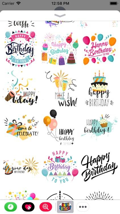 Happy Birthday Stickers 2018
