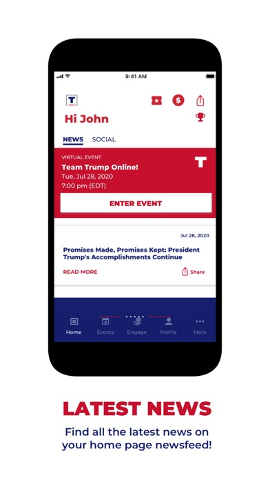 Screenshot of Official Trump 2020 App App