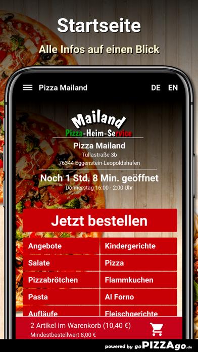 Pizza Mailand Eggenstein-Leopo screenshot 3
