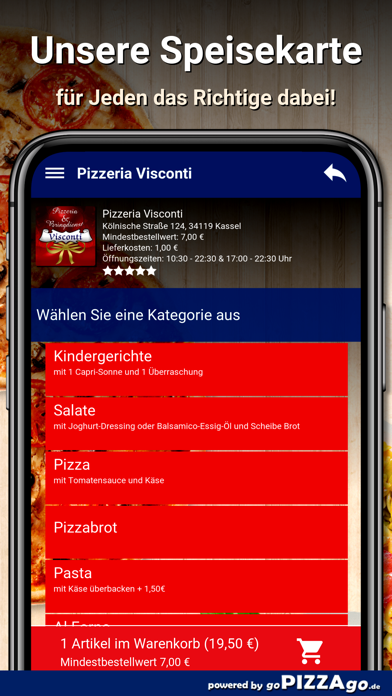 Visconti Kassel Lieferservice screenshot 4