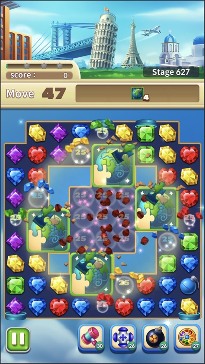 Jewels World Match 3 Puzzle screenshot-8