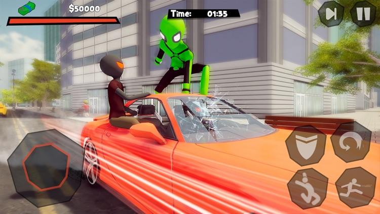 Stickman Spider -Rope Hero Sim screenshot-4