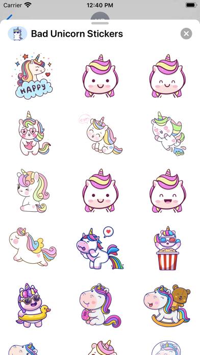 Bad Unicorn Stickers screenshot 1