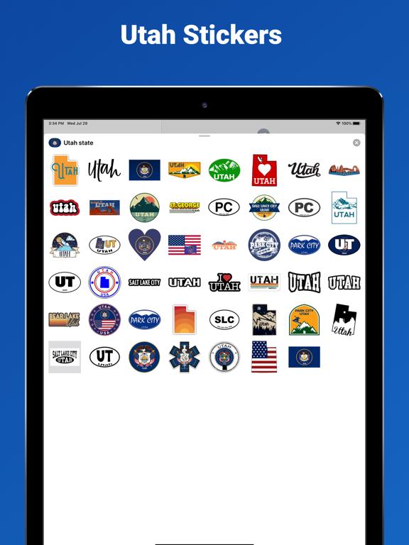 Utah state - USA stickers screenshot 4