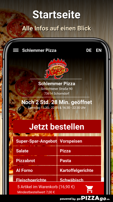 Schlemmer Pizza Schorndorf go screenshot 2