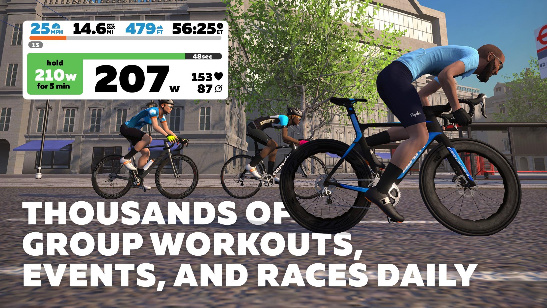 Screenshot do app Zwift: Ride and Run