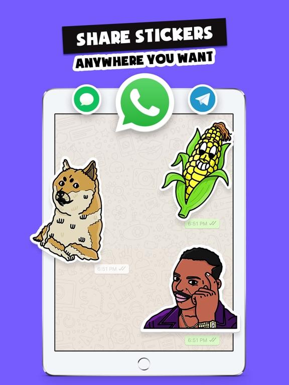 Stickers Funny of Meme & Emoji screenshot 13
