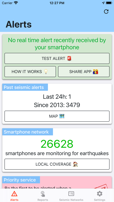 messages.download Earthquake Network software