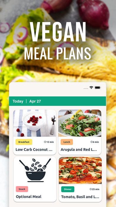Vegan Meal Plan & Food Recipes Screenshot